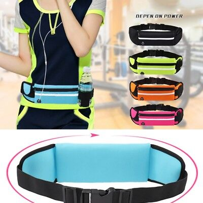 Waterproof Sport Runner Waist Bum Bag Jogging Running Belt Pouch Zip Fanny Pack