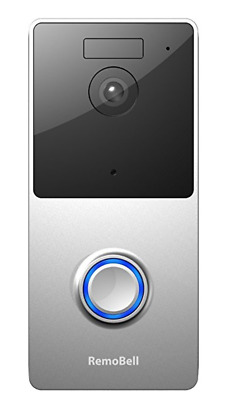 RemoBell-WiFi-Wireless-Live Cam-Video Doorbell Battery Powered,Night Vision,2Way