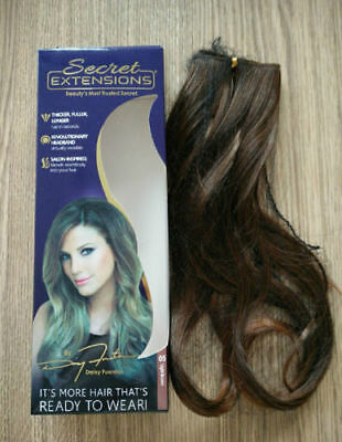 8pcs Secret Extensions by Daisy Fuentes,light brown Hair AS SEEN ON TV