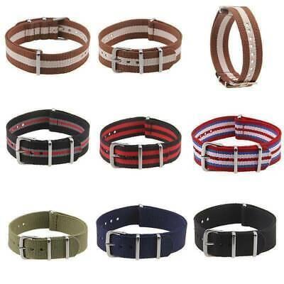 Adjustable Nylon Watch Band Strap Quick Release Wristband Band 18 20 22mm