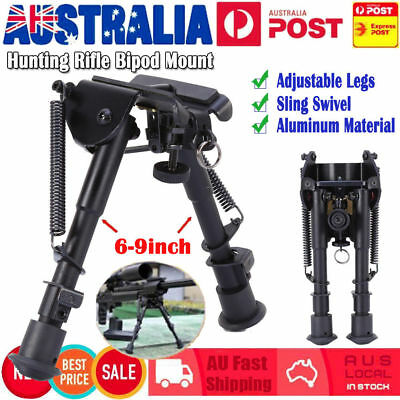 "HOT Adjustable 6"" to 9"" Height Sniper Hunting Rifle Bipod Sling Swivel Mount AU"