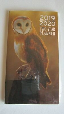 2019-2020 Two 2 Year Owl PLANNER Pocket Purse Bird Calendar 2 yr nature