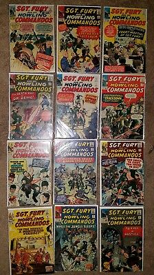 Sgt Fury and His Howling Commandos LOT, 13 EARLY Issues , 3 thru 21