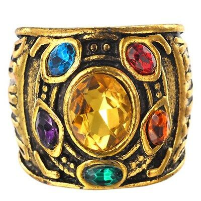 Infinity THANOS Gauntlet POWER RING Avengers The Infinity War Stones Size 6-10