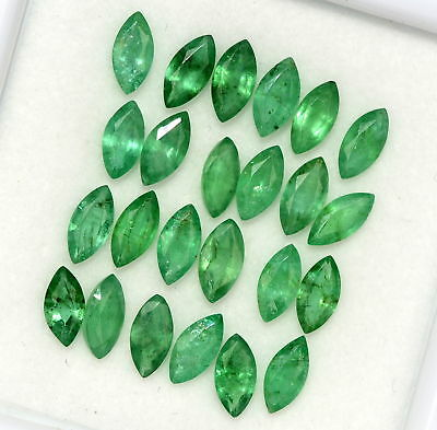 3.39 Cts Natural Emerald Marquise Cut 6x3 mm Lot 15 Pcs Untreated Loose Gemstone