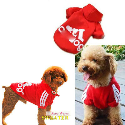 Large Dog Pet Coat Jacket Hoodie Puppy Sweater Outwear Costume Apparel S-9XL