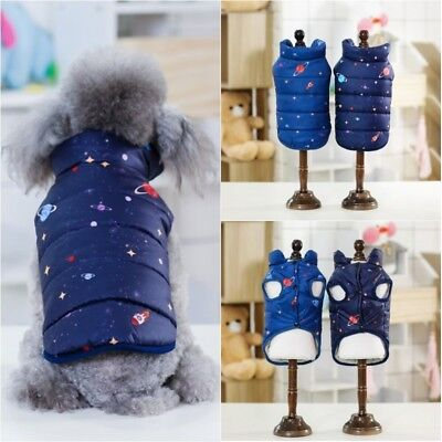 Pet Dog Cat Winter Warm Padded Hooded Coat Puppy Jacket Sweater Apparel Clothes
