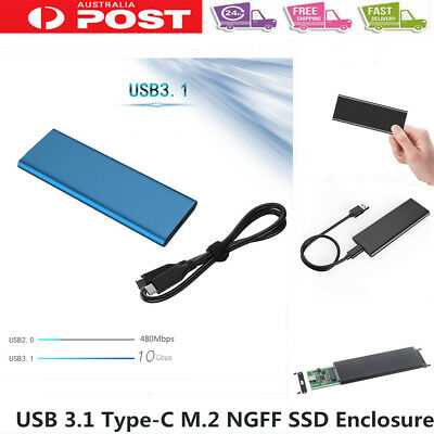10Gbps NVME NGFF M.2 SSD Hard Disk Case Box Enclosure USB 3.1 Type-c To PCI-E PF