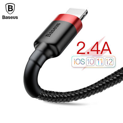 Baseus Braided Lightning USB Fast Charging Data Sync Cable for iPhone X 8 7 6s