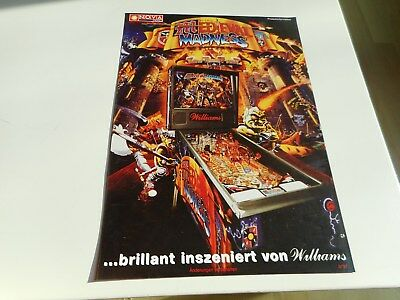 Flyer für Williams Flipper Pinball Medieval Madness deutsch