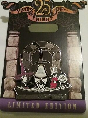 25th Anniversary Disney's Nightmare Before Christmas Mayor & Friends Pin LE 4000