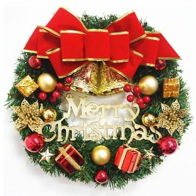 Christmas XMAS Home Party Garden Home Decor Wreath Door Hanging Window Ornaments