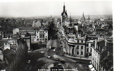 """""Postcard Birds Eye View Of Aberdeen,Scotland"""""