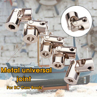 4Pcs Metal Universal Joint Brushless Shaft Coupling For RC Car Boat Toy 5 Sizes