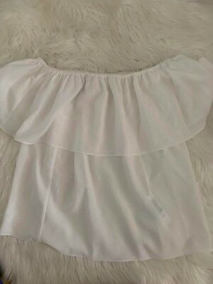 forever new off shoulder white top size 10