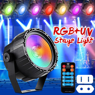 30W RGB UV COB LED Stage Lighting DMX512 Effect Light DJ Club Party Show Lamp