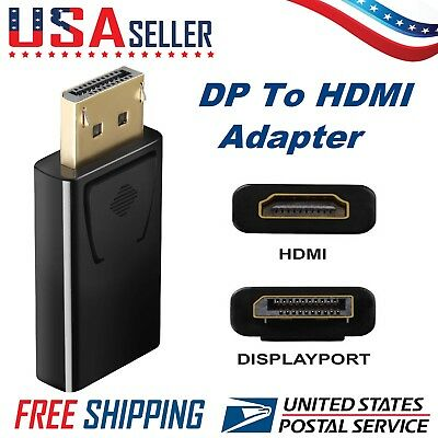 Display Port DisplayPort DP to HDMI Adapter Gold Plated Black Hot Sale USA