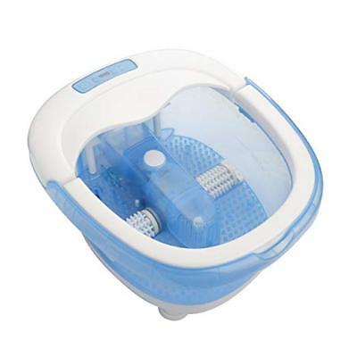 Foot SPA Bath With Poweroll 2-in-1 Massager, Waterfall jets, LED, deep tub