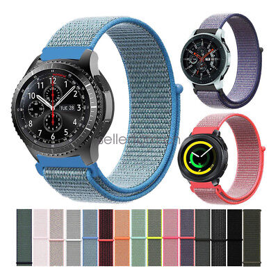 Samsung Galaxy Watch Bands, Woven Nylon Sport Loop Strap for Gear S3 S2 Classic