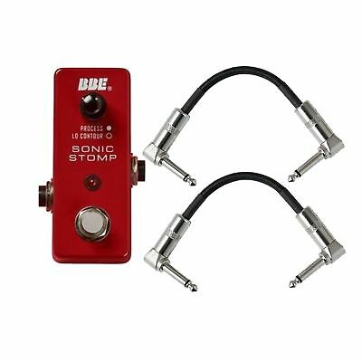 BBE MS 92 Mini Sonic Stomp Maximizer Guitar Effects Pedal with 2 Patch Cords