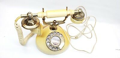 Vintage French Style rotary Phone Antique Handset Telephone