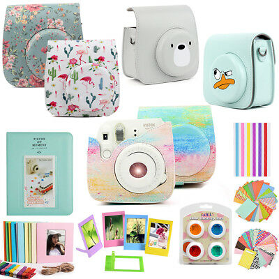 For Fujifilm Instax Mini 9 Mini 8 Film Camera Case Cover Bag Album 10-IN-1 Kits