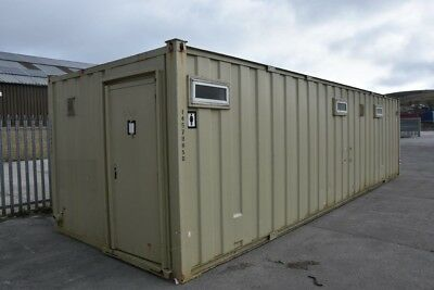 32′ x 10' Portable Building - Anti-Vandal Toilet & Shower - 6 Gents with Shower