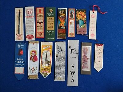 15 x Vintage Silk and Card Bookmarks