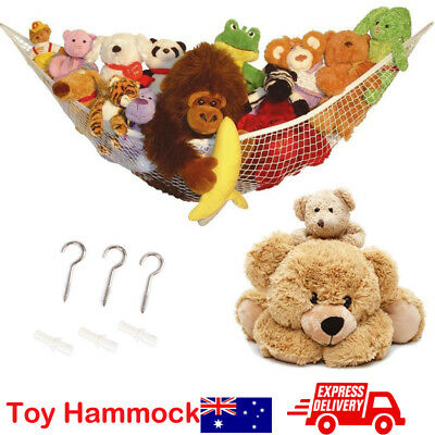 Soft Large Toy Hammock Mesh Kids Bedroom Storage Nursery Teddy Bear Net Childs