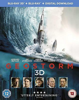 Geostorm [Blu-ray 3D + Blu-ray + Digital Download] [2017] New & Sealed