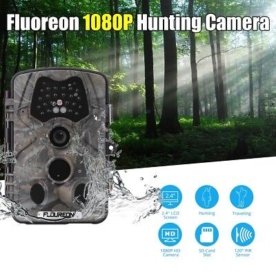 1080P Fototrappola 12Mp Telecamera Scouting Hunting Camera 120°Pir Waterproof It