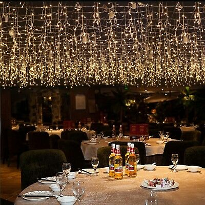 Curtain Icicle String Lights Outdoor LED Home Wedding Christmas Party Decoration