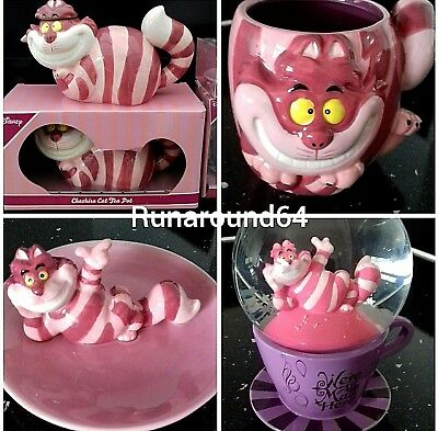 Disney Alice In Wonderland Cheshire Cat Tea Pot Trinket Mug Snowglobe Primark