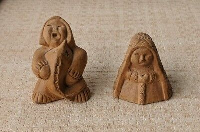 Pair of vintage hand carved netsuke