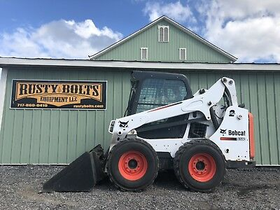 2015 Bobcat S590 Skid Steer Loader Enclosed Heat Ac 2Sp 1201 Hours. Plow Snow!!