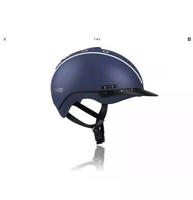 Adjustable Blue Casco 2 Mistrall Horse Riding Hat Size Small 55 56 57cm