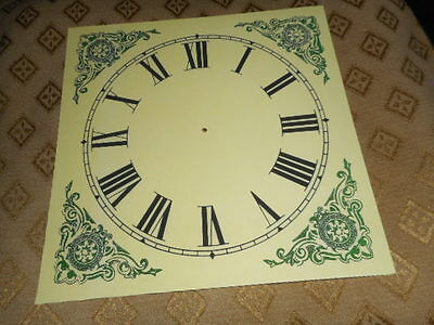 "Ogee Wall/ Shelf Paper Clock Dial- 7 1/2"" M/T- Roman-Corner Designs- Clock Parts"