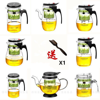 Kamjove Glass Tea Pot PiaoYi Bei Kungfu Tea Set Press AUTO-OPEN Art Tea Cup