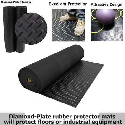 Incstores Rubber Mats 4ft X10ft High Quality Home Gym