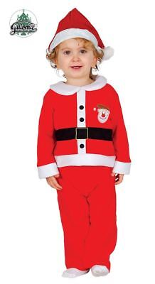 Toddlers Santa Claus Father Christmas Xmas Fancy Dress Costume Infant Boys Girls