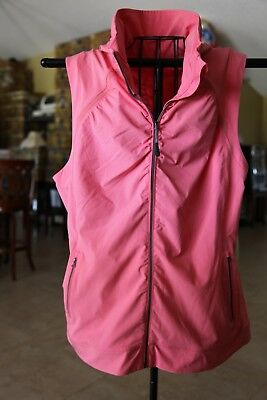 Tangerine Active Stretch Woven Vest ***free Shipping***