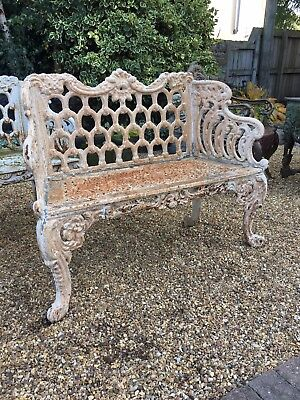Victorian Style Cast Iron Bench