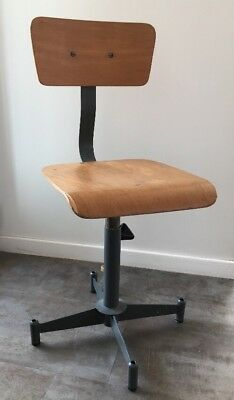 Authentique Ancien Tabouret Chaise Datelier Darchitecte De Bureau Vintage
