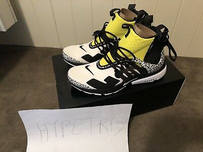 best website 2fe85 67c91 ... new arrivals nike air presto mid x acronym dynamic yellow 100 authentic  size 9us 8uk 42