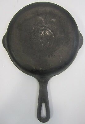 """Vtg Griswold Skillet #3 709H? Cast Iron Frying Pan Logo Small 6 1/2"""" Erie PA J3"""