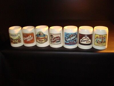 1990s Legacy Of Wisconsin Beer Mugs, Set of 7 – FREE SHIPPING