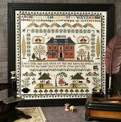 Cross Stitch Sampler Chart LEARN LITTLE MAID from The Sampler Company. Brand new