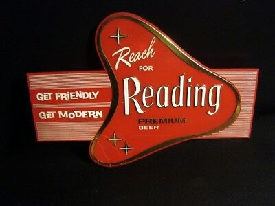 Circa 1950s Reading Red, White & Gold Beer Sign, Pennsylvania