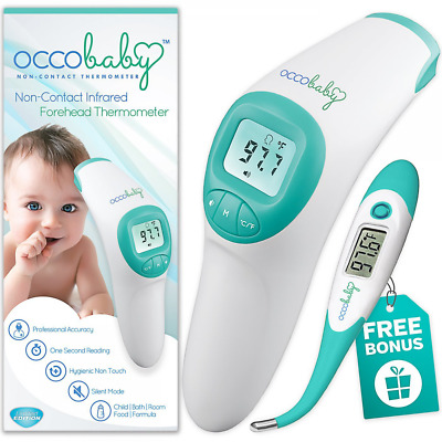 Digital Clinical Forehead Baby Thermometer with Flexible Tip Waterproof