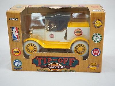 Vintage Tip Off 1918 Ford Truck Houston Rockets Basketball Die Cast Coin Bank